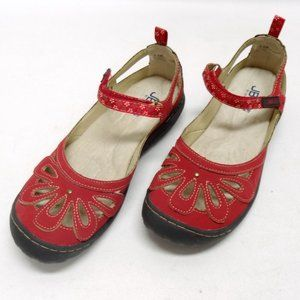 Jambu Wildflower Encore Red Vegan Leather Sandals